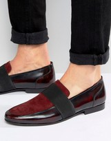 Asos Loafers In Red Suede