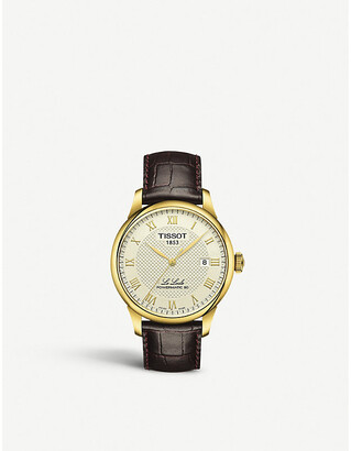 Tissot Women's Gold and Brown T006.407.36.263.00 Le Locle Gold-Plated Watch