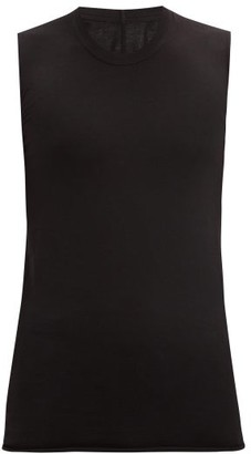 Rick Owens Longline Cotton-jersey Tank Top - Black