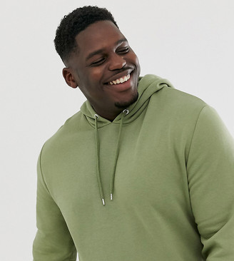 Asos Design DESIGN Plus hoodie in khaki-Green
