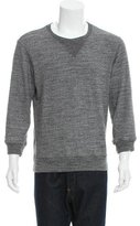 Maison Margiela Leather-Accented Crew Neck Sweater