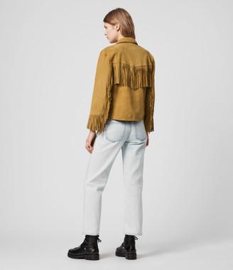 AllSaints Mina Suede Tassel Jacket