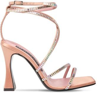 Les Petits Joueurs 100mm Camelia Satin & Crystals Sandals