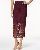 Bar III Crochet Lace Midi Skirt, Only at Macy's