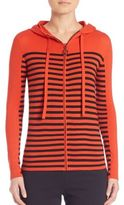 Akris Punto Striped Wool Hoodie