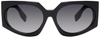 Burberry Black Oversized Wrap Sunglasses