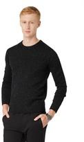 Frank & Oak Donegal Crewneck Sweater in Black Heather