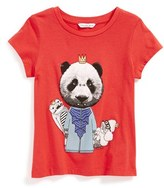 Little Marc Jacobs 'Panda' Cotton & Modal Tee (Little Girls & Big Girls)