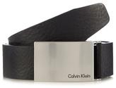 Calvin Klein Black Branded Buckle Leather Belt