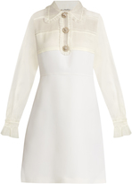 Miu Miu Crystal-embellished wool and silk dress