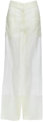 La Perla Ecru Silk Trousers for Women