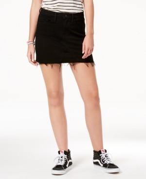 Flying Monkey High Rise Black Denim Mini Skirt