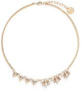 Anton Heunis Asymmetric floral Swarovski crystal choker necklace