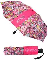 Emoji Compact Pink Umbrella All-Over Emoji Pattern