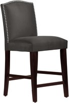 Skyline Nail Button Arched Counter Stool, Premier Charcoal - Premier Charcoal