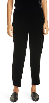 Eileen Fisher Velvet Tapered Ankle Pants