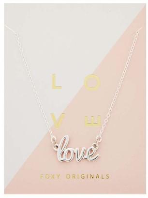 Foxy Originals Love Necklace - Silver