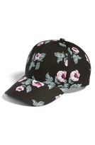 Amici Accessories Women's Floral Print Ball Cap - Black