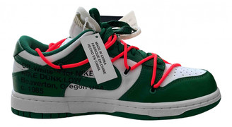 Nike x Off-White Dunk Low Green Leather Trainers