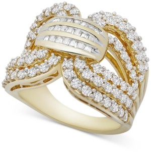 Wrapped in Love Diamond Statement Ring (2 ct. t.w.) in Gold-Plated Sterling Silver, Created for Macy's
