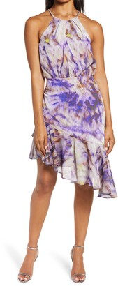 Adelyn Rae Jodie Asymmetrical Ruffle Hem Dress