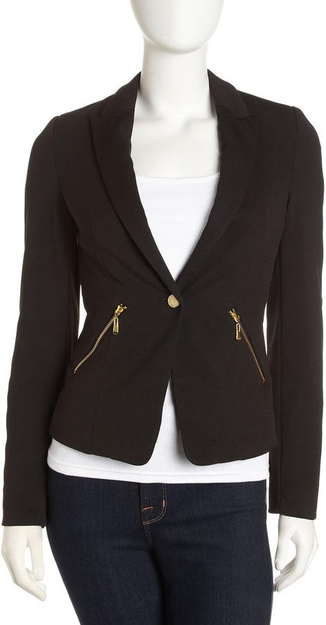 Romeo & Juliet Couture One-Button Blazer, Black