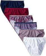 Fruit of the Loom Women's 6-Pack Assorted Colors Cotton Bikini Panties