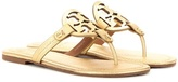 Tory Burch Miller metallic leather sandals