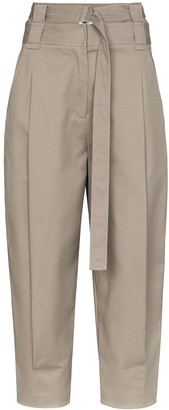 Tibi Myriam high waist cotton trousers