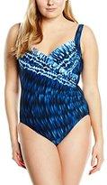 Miraclesuit Women's Indigo Go - Sanibel Tie-Dye Swimsuit,12 (Manufacturer Size: 42)