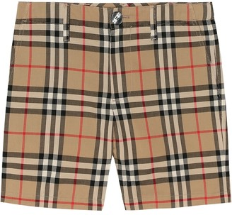 BURBERRY KIDS Vintage Check cotton shorts