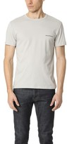 Emporio Armani Stretch Cotton Logomania Crew Neck Tee