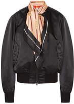 Balenciaga Silk Twill-trimmed Shell Bomber Jacket