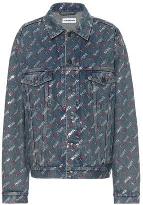 Balenciaga Embellished denim jacket