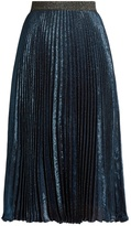 Christopher Kane Pleated lamé midi skirt