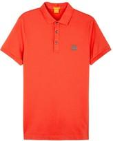 Boss Orange Pavlik Orange Cotton Blend Polo Shirt