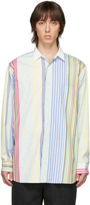 Beams Multicolor Stripe Poplin Shirt