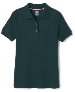 French Toast Toddler Girls School Uniform Short Sleeve Picot Collar Interlock Polo Shirt (Toddler Girls)