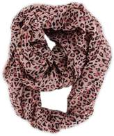 QuStars Women's Leopard Animal Print Infinity Loop Cowl Fashion Scarf