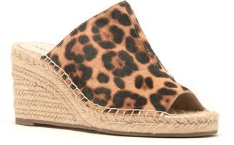 Sole Society Caleena Genuine Calf Hair Wedge Slide Sandal