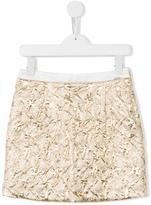 Kenzo crease-effect skirt - kids - Cotton/Polyamide/Polyester/Metallic Fibre - 3 yrs