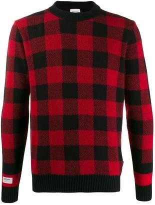 Woolrich tartan print jumper
