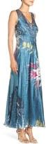 Komarov Petite Women's Mixed Media Maxi Dress
