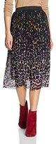 New Look Women's Chloe Animal Pleated Midi Skirt,6