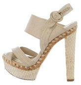 Donna Karan Canvas Platform Sandals