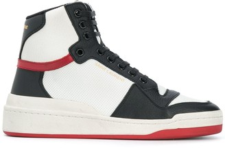Saint Laurent Panelled High-Top Sneakers