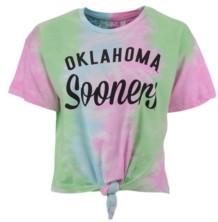 Royce Apparel Inc Women's Oklahoma Sooners Inlet Tiedye Tie T-Shirt