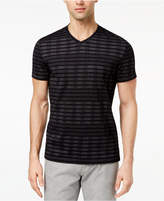 Alfani Men's Broken Multi-Stripe V-Neck T-Shirt, Created for Macy's