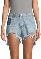 One Teaspoon Le Wolves Mid-Rise Ripped Denim Shorts
