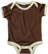 Baby Soy Short Sleeve Bodysuit - Chocolate - 6-12 months